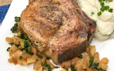 Apple and Rosemary Pork Chops