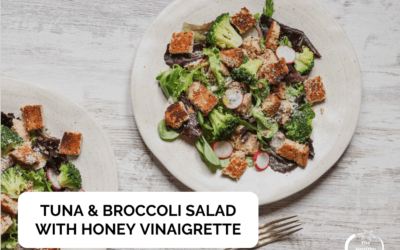 Tuna & Immune Boosting Broccoli Salad with Honey Vinaigrette