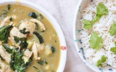 Chicken and Zucchini Green Curry